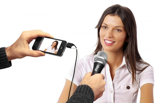 Micrófonos para periodistas