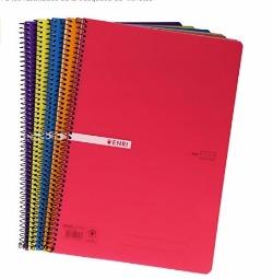 Cuaderno con espiral simple, tapa de plástico