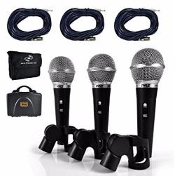 Pyle profesional dinámico micrófono Kit – 3 micrófonos incluidos